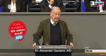 Dr. Alexander Gauland, AfD-Bundessprecher und Vorsitzender der AfD-Bundestagsfraktion, Deutscher Bundestag, 16. Mai 2019