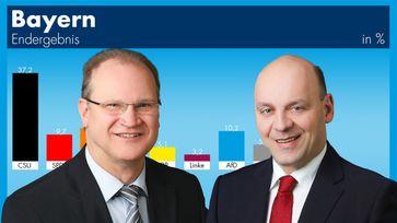 AfD-Hessen: Klaus Herrmann (li) und Robert Lambrou (re)