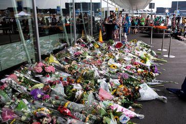 MH 17: Blumen zum Gedenken am Fughafen Schiphol / Amsterdam