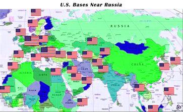 USA Militärbasen rund um Russland uns Syrien.