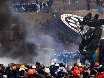 Der Versuch der Räumung des Maidan durch Polizeieinheiten am 19. Februar 2014