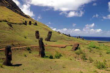 Moai am Rano-Raraku