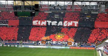 Choreographie der UF97, Ultra-Gruppierung von Eintracht Frankfurt