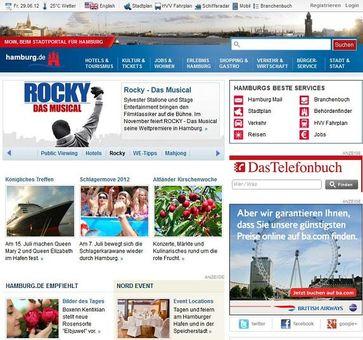 Screen Webseite hamburg.de