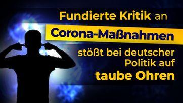 "Bild: Screenshot Video: "" Fundierte Kritik an Corona-Maßnahmen stößt bei deutscher Politik auf taube Ohren"" (www.kla.tv/18091) / Eigenes Werk"