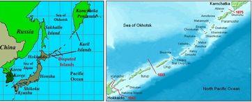 Die Kurillen Inseln: Ähnlich wie das Deutsche Reich, wurden auch Japans Ländereien besetzt und bis heute nicht wieder zurück gegeben.