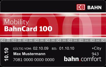 Mobility Bahncard100 (Design bis 2009)