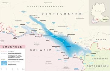 Karte des Bodensee