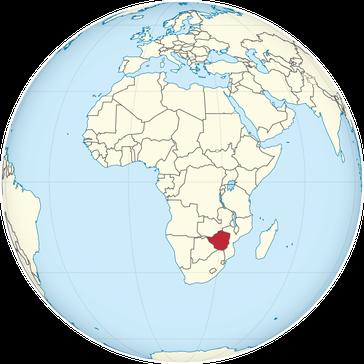 Simbabwe auf der Welt