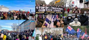 Anti-Lockdown und Anti-Regierungsdemonstrationen in 100 Städten in 40 Ländern am 20.03.2021.