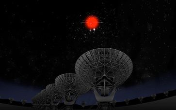 Bild: Bill Saxton, NRAO/AUI/NSF; Hubble Legacy Archive, ESA, NASA