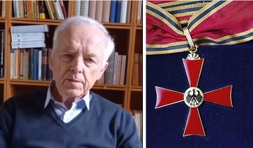 """Dr. Manfred Kölsch (2021) Bild: Screenshot """"Youtube"""" Lizenz u. Bundesverdienstkreuz: Flophila88 / (CC BY-SA 3.0) / UM / Eigenes Werk"""