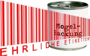 Entweder steckt nicht drin, was drauf steht – oder es steht nicht drauf, was drin ist. Etikettenschwindel und irreführende Werbeaussagen sind für Verbraucher ein Ärgernis. Grafik: foodwatch