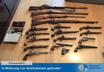 Schusswaffen entdeckt Bild: Polizei