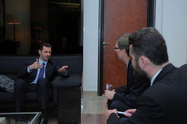 Bild: Pressedienst des syrischen Präsidenten Baschar al-Assad (via Izvestia.ru)