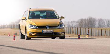 Die Fahrversuche beim ADAC Bremsscheiben-Test wurden auf dem VW Golf 7 durchgeführt.  Bild: ADAC/Matthias Zimmermann Fotograf: ADAC Matthias Zimmermann