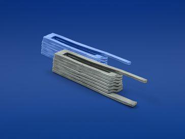 Im Druckguss hergestellte Aluminiumspule mit sieben Windungen und einer Leiterhöhe von ca. 1,5 Millimetern. Quelle: © Fraunhofer IFAM (idw)