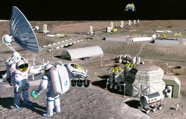NASA-Vision einer Mondbasis