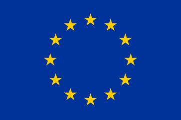 Flagge der Europäischen Union (EU),des Europäischen Rates (ER) und des Europarat (Council of Europe) (CoE)