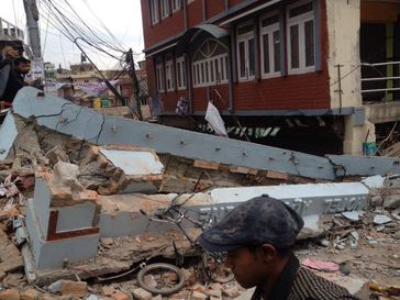 Nepal: Building damage as a result of the earthquake