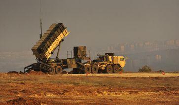 Patriot-Raketenstartfahrzeug bei Gaziantep