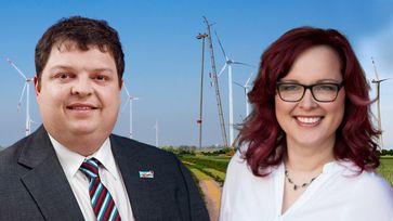 Hannes Loth MdL, fachpolitischer Sprecher für Landwirtschaft, Lydia Funke MdL, umweltpolitische Sprecherin der AfD-Fraktion in Sachsen-Anhalt (2019)