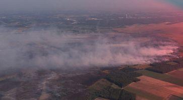 Moorbrand bei Meppen, Luftaufnahme vom 19.09.2018