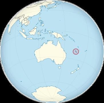 Neukaledonien auf der Welt