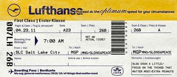 Lufthansa Ticket (Symbolbild)