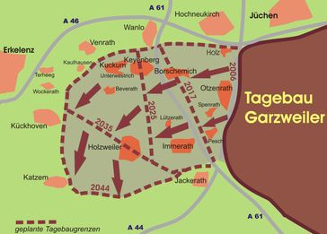 geplantes Abbaugebiet GarzweilerII