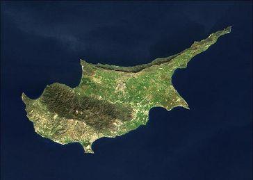 Satellitenbild von Zypern Bild: NASA
