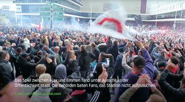 Niederländer feiern riesige Fußball-Party am 02.05.2021