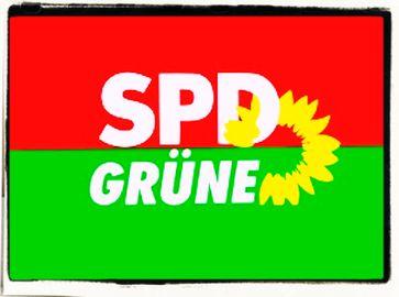 Rot Grün (SPD, Grüne) (Symbolbild)