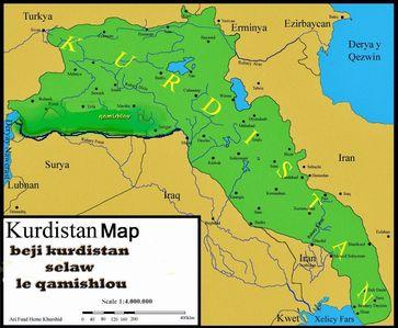 Karte von Kurdistan