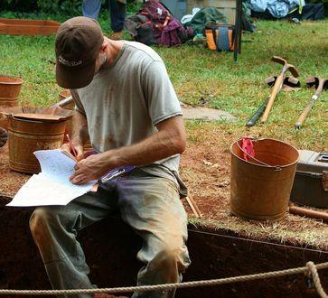 Ausgrabungen Archäologe