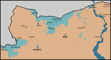Ein Teil des Siedlungsgebiets der Turkmenen im nördlichen Syrien
