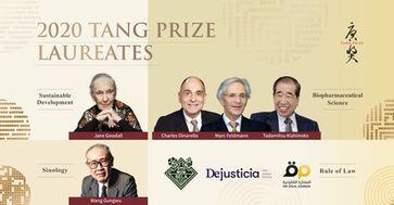 Vor einem turbulenten Hintergrund setzen sich die Preisträger des Tang Prize 2020 für eine neue Weltordnung ein
