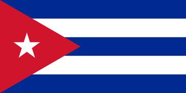 Die Flagge von Kuba