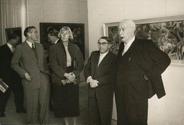 Federal President Theodor Heuss at documenta 1, 1955  Bild: Deutsches Historisches Museum Fotograf: Deutsches Historisches Museum
