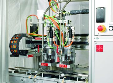 Maschine zum Abfüllen und Dosieren, Beispiel für eine moderne Maschine