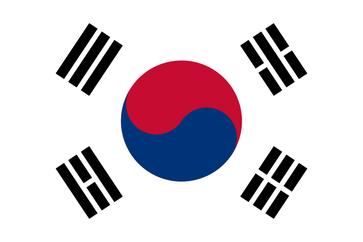 Flagge der  Republik Korea