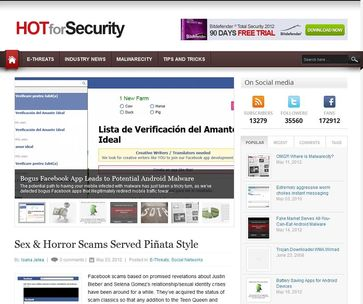 "Screenshot von Blog ""HOTforSecurity"""