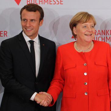 Emmanuel Macron and Angela Merkel (2017)