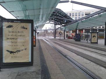 Aktion zum Tod von Oury Jalloh 2017 in Sachsen durch Black Rose.