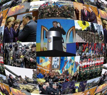 Impressionen aus der Ukraine unter dem Regime Poroschenko: Nazis sind dort staatlich akzeptiert und werden bewaffnet. Jetzt gilt Kriegsrecht. (Symbolbild)