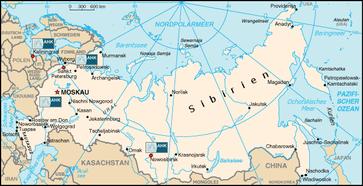 Standorte der Deutsch-Russischen Auslandshandelskammer (AHK)