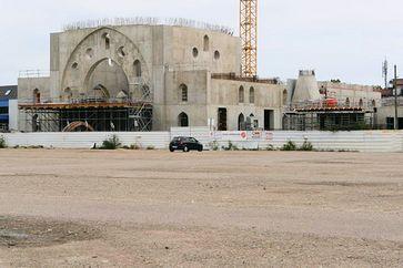Bau der größten Moschee Europas in Strassburg. Bild: UM / Eigenes Werk