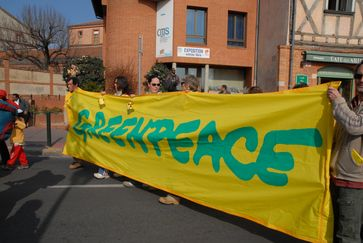 Greenpeace-Demonstration in Toulouse gegen den Bau eines EPR (2007)