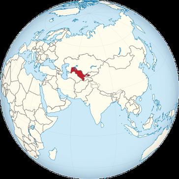 Usbekistan auf der Welt