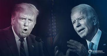 "Präsident Donald Trump und Joe ""sleepy"" Biden: ""obs/pressrelations GmbH"""